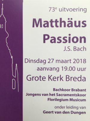Matthäus Passion Breda Bachkoor Brabant