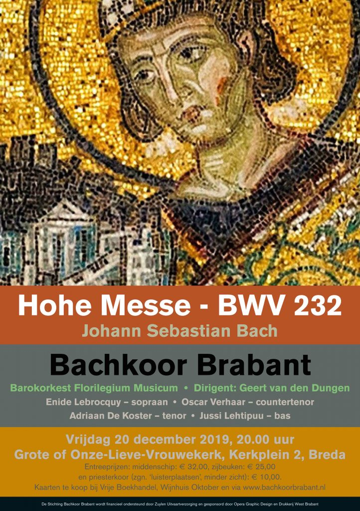 Uitvoering Hohe Messe Bachkoor Brabant